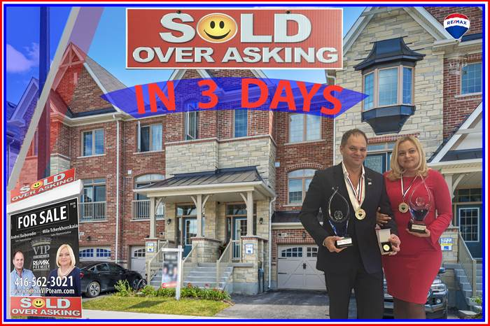 ***SOLD OVER ASKING***61 Allegranza Ave, Vaughan, Ontario