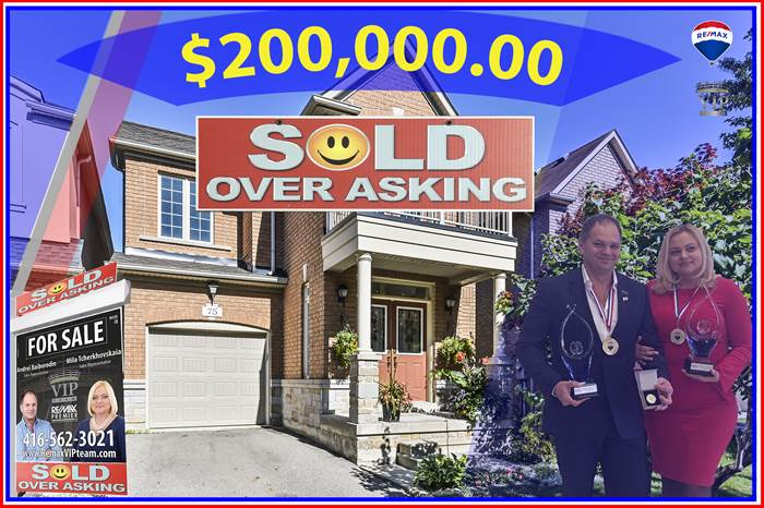 ***SOLD $200,000 OVER ASKING***75 Dewpoint Road, Vaughan, Ontario